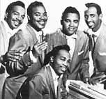 The Drifters 1956 -57 L-R Tommy Evans, Gerhart Thrasher, Johnny Moore, Charlie Hughes, Jimmy Oliver (seated)
