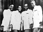 The Drifters 1958 - L-R Charlie Thomas, Ben E King, Dock Green and Elsbeary Hobbs