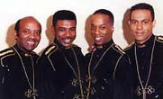 The Drifters 1995 - 96 L-R Johnny Moore, Roy Hemmings, Rohan Delano Turney and Jason Leigh